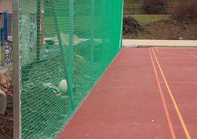 Ballfangnetz im Stadion
